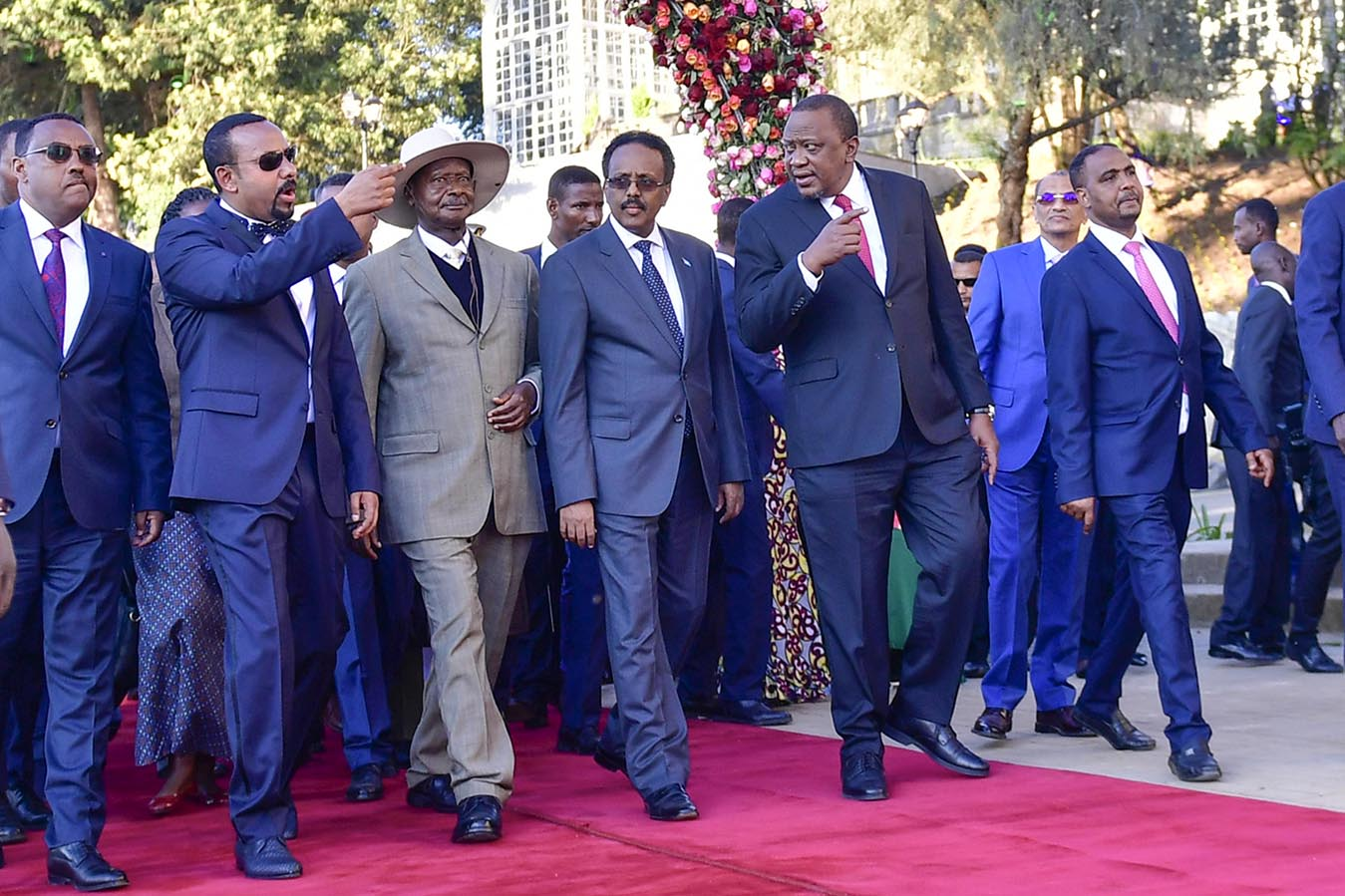 Addis Ababa - Museveni arrives for the Inauguration of the Unity Park