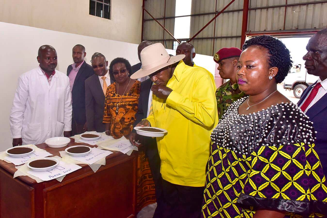 Bushenyi - President officiates at the Skilling of the Youth Graduation ceremony - visits tea factories and youth Projects